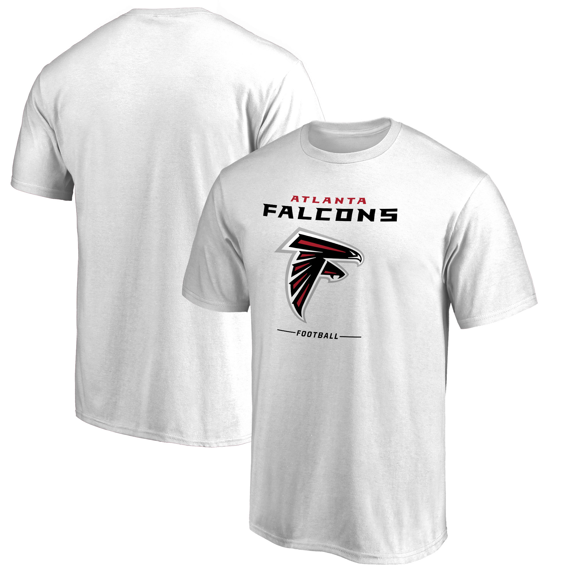 Atlanta Falcons NFL Pro Line by Fanatics Branded Team Lockup T-Shirt - White