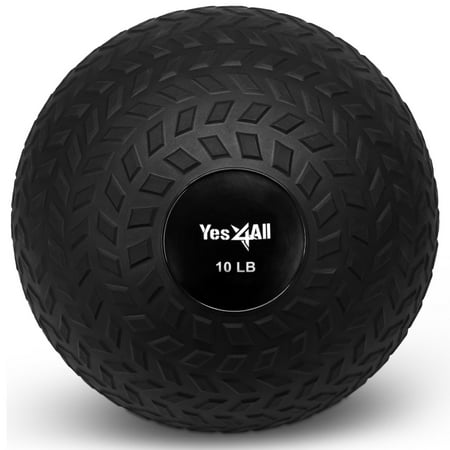 Yes4All Slam Ball for Strength and Crossfit Workout – Slam Medicine Ball, 10-20 (Sitting On Medicine Ball Good For Back)