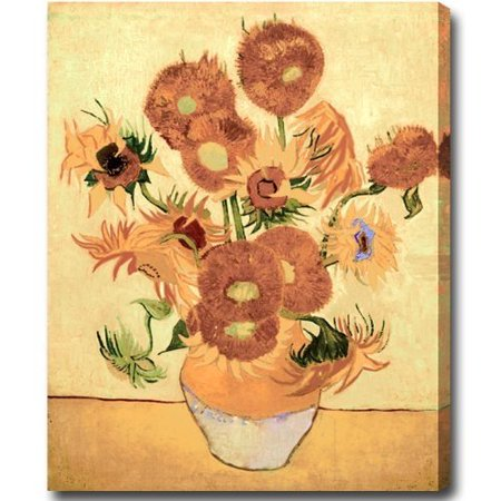 Idea Factory Vincent Van Gogh Sunflowers Hand Painted Oil