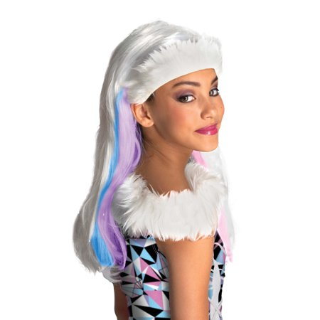 Monster High Abbey Bominable Child Halloween Costume Wig