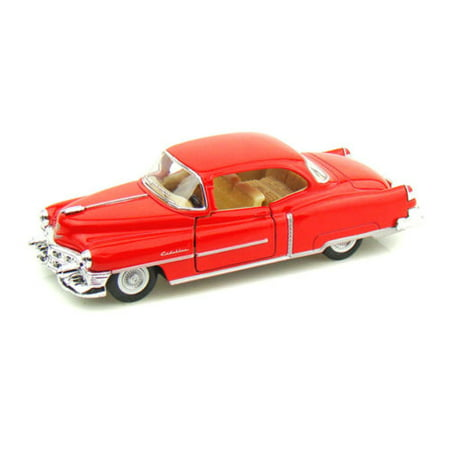 KINSMART 1:43 DISPLAY 1953 CADILLAC SERIES 62 COUPE DIECAST CAR RED COLOR KT5339D NO RETAIL (1953 C Two Dollar Bill Red Seal Value)