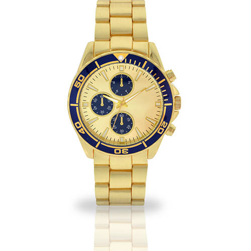 Image of Men's Gold Face Fashion Watch, Faux Gold Band