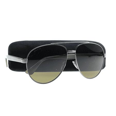 GG0054S Sunglasses Color 003 Silver/Havana Size (Gucci Sunglasses Men's)