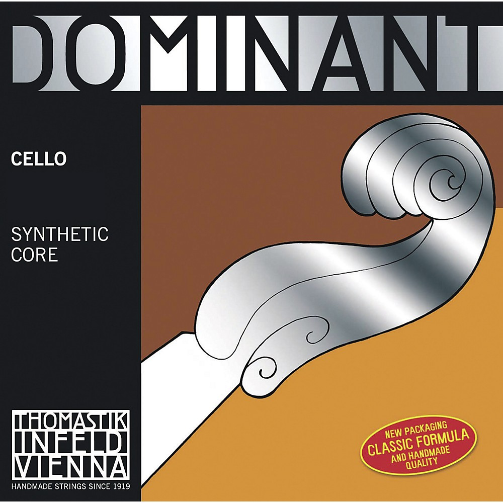 Thomastik Dominant 4/4 Size Heavy (Stark) Cello Strings 4/4 C String, Silver