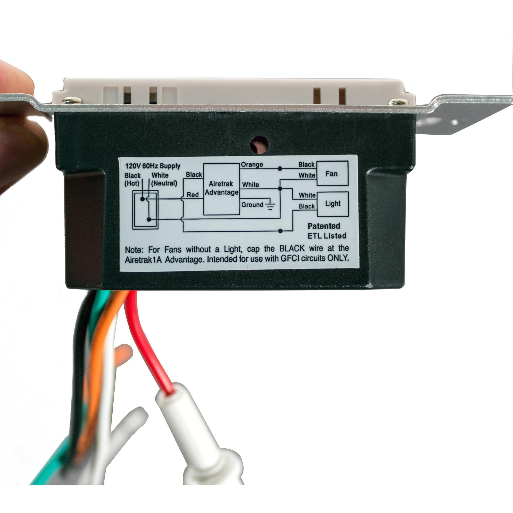 Tamarack Airetrak 1A Advantage Programmable Bathroom Fan Control ...
