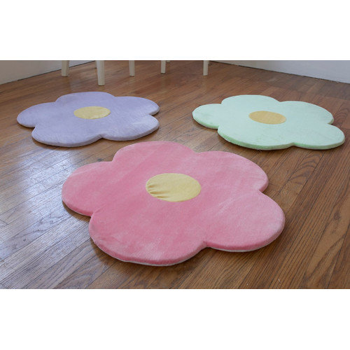 Heart to Heart Daisy Flower Kids Rug (Set of 3)