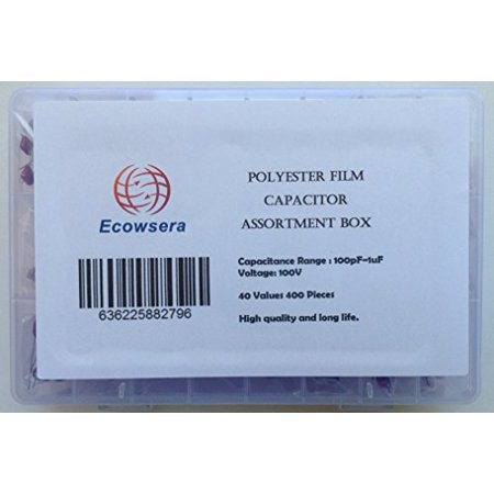 100V Polyester Film Capacitor Assorted Kit, 40 Values, 400 Pcs - image 1 of 1