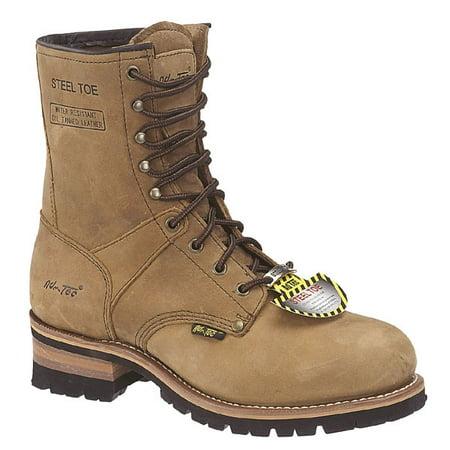 Men's 9 Steel Toe Logger Boots, Brown - 7 M