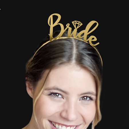 bride metallic gold headband tiara bridal hair accessories bridal shower gift bachelorette party