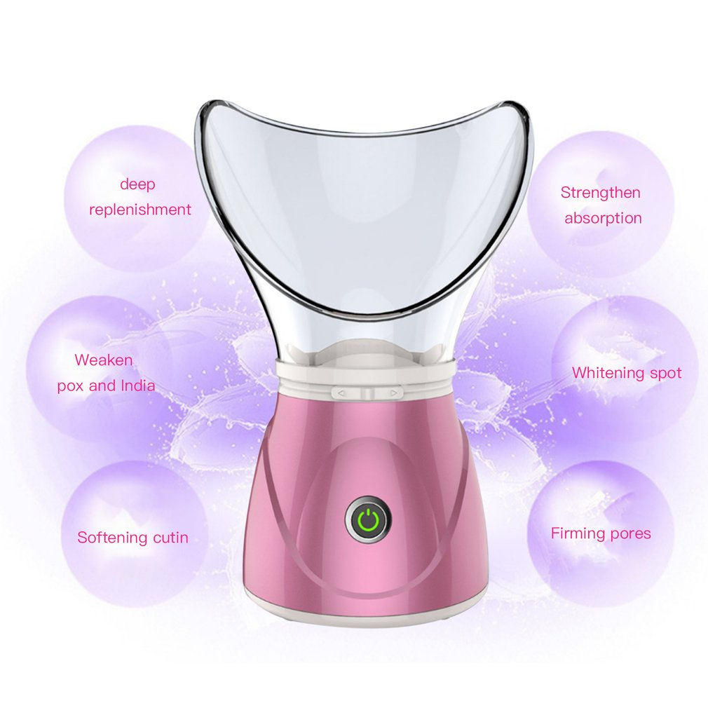 370W Face Steamer Moisturizing Mist Steam Sprayer Facial Humidifier Thermal Sprayer Skin Care Deep Cleanser Beauty Instrument