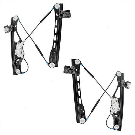 Pair Set Front Power Window Lift Regulators Replacement