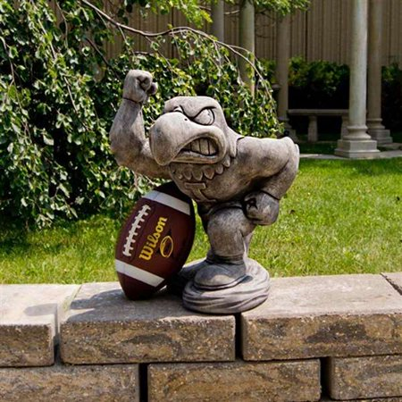 University of Iowa Hawkeyes Herky  Vintage Finish Stone Mascot