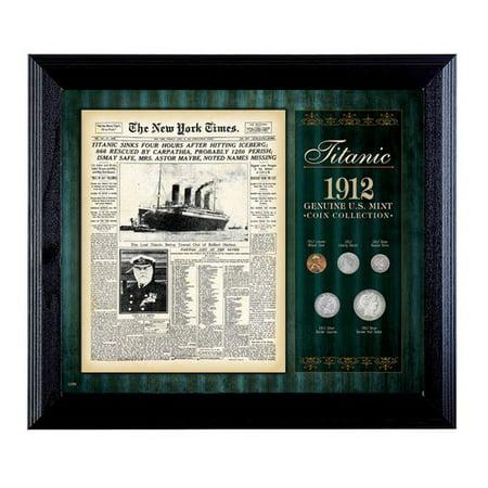 American Coin Treasures New York Times Titanic 1912 U S  Mint Framed Memorabilia