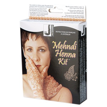 601e775f0 Mehndi Henna Jacquard Temporary Tattoo Kit, 1 Each - Walmart.com