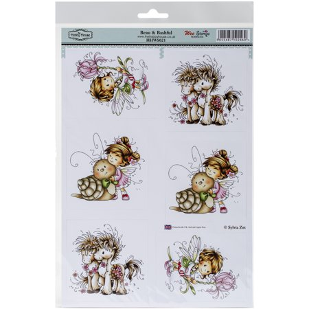 Hobby House 436758 Wee Stamps Topper Sheet - Beau & Bashful, 8.3 x 12.2 in.