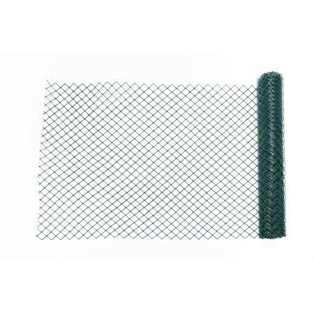 High Density Polyethylene (HDPE) Diamond Link Safety Fence, 50 ft. Length x 4 ft. Width, Green ()