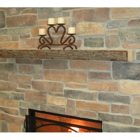 Kettle Moraine Hardwoods Rodney Rustic Fireplace Mantel Shelf - Rustic Wood Mantel