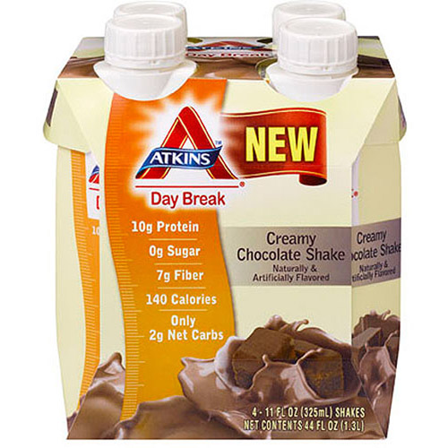 Atkins Day Break Creamy Chocolate Shakes, 4ct