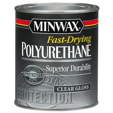 Minwax Fast-Drying Polyurethane, Clear Gloss, Half-Pint ()