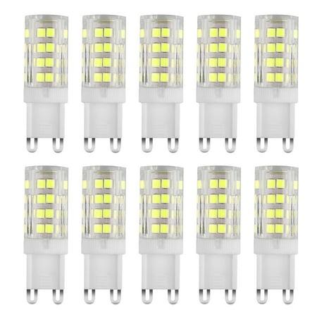 120v 5w Bell Led (G9 LED Bulb 5W LED Corn Light Bulbs - G9 Ceramic Bulbs Replacement 40W Equivalent Halogen Bulbs Daylight White 6500K G9 LED Bulbs for Home Lighting, Ceiling Fan, Dimmable,)