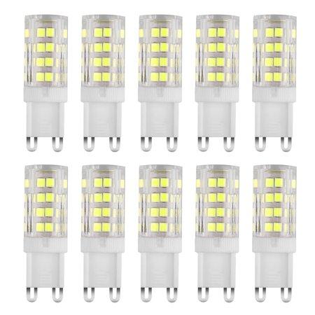 G9 LED Bulb 5W LED Corn Light Bulbs - G9 Ceramic Bulbs Replacement 40W Equivalent Halogen Bulbs Daylight White 6500K G9 LED Bulbs for Home Lighting, Ceiling Fan, Dimmable,