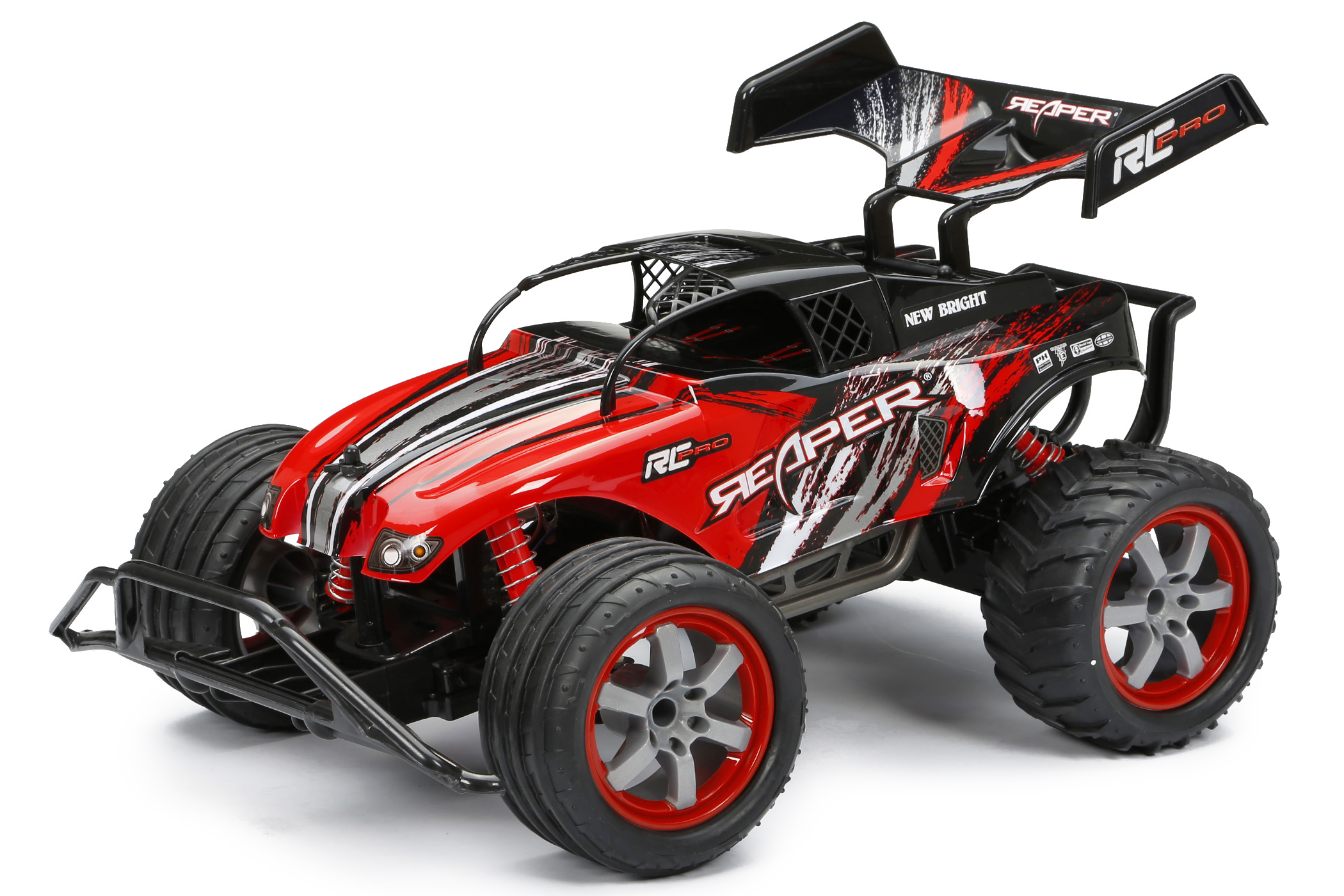 Click here to buy New Bright 1:10 Radio Control Pro Reaper Red by New Bright.