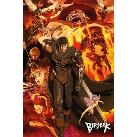 Berserk - Manga / Anime TV Show Poster / Print (Character Collage) (Size: 24