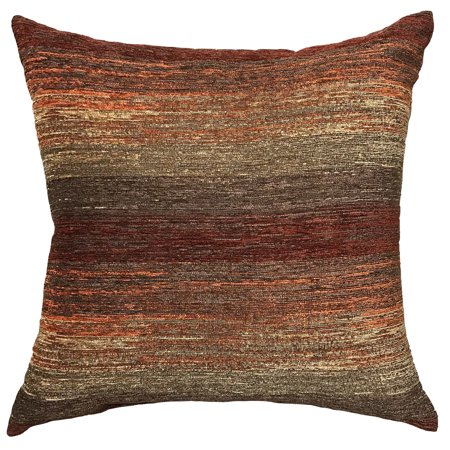 Better Home Gardens Spice Stripe Decorative Pillow OrangeRed Unique Red And Brown Decorative Pillows