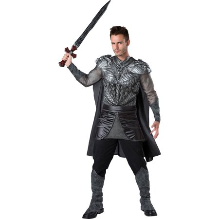 Dark Medieval Knight Men's Adult Halloween Costume (Medieval Knight Mask)