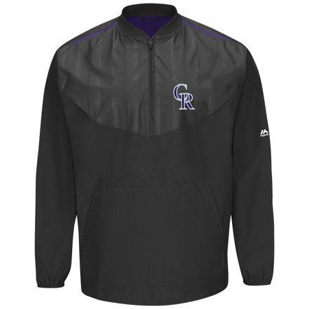 Colorado Rockies Majestic MLB Authentic Cool Base On-Field Training Jacket by
