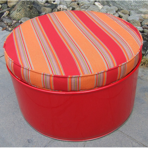 Drum Works Furniture Bravada Salsa Ottoman with Cushion