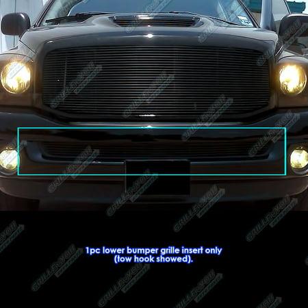 Fits 02-08 Dodge Ram Bumper Black Billet Grille (Ram Pu Billet Grille Insert)