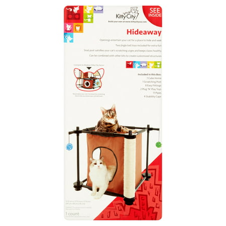 "Kitty City Hideway Cat Furniture, 18""x18""x18"", Multicolor"