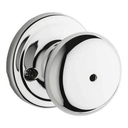 Chrome Chassis - Kwikset 730H-26GC Hancock Privacy Door Lock Bright Chrome Finish with New Chassis