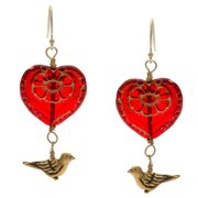 Lolas Jewelry Lola's Jewelry 14k Goldfill 'My Heart Flies To Yours' Hook Earrings