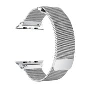 Coverlab Apple Watch Band 38/40mm, Stainless Steel Mesh Milanese Loop with Adjustable Magnetic Closure for Apple Watch Series 5 4 3 2 1, Silver