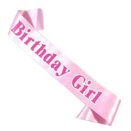 Birthday Girl Satin Sash – Happy Birthday Party Favors, Supplies and Decorations – Sweet 16 - 21st Birthday - Funny Birthday