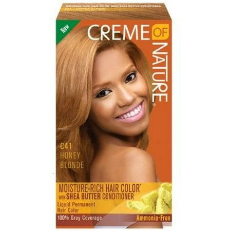 3 Pack - Creme of Nature Moisture Rich Hair Color Kit, Honey Blonde [C41] 1 ea