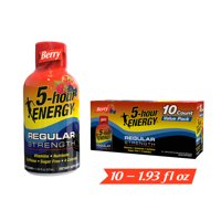 5-hour ENERGY® Shot, Regular Strength, Berry, 1.93 oz, 10 Pack