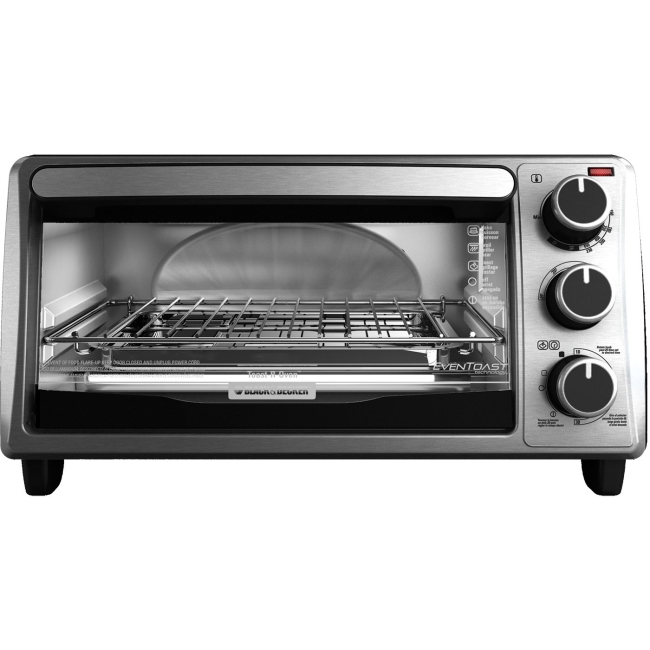 BLACK DECKER 4 Slice Toaster Oven Stainless Steel TO1303SB