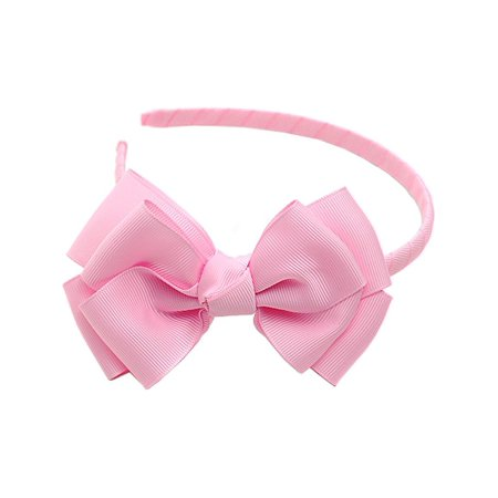 Light Pink Ribbon Bow Hairband Hair Accessory (Light Up Hair Accessories)