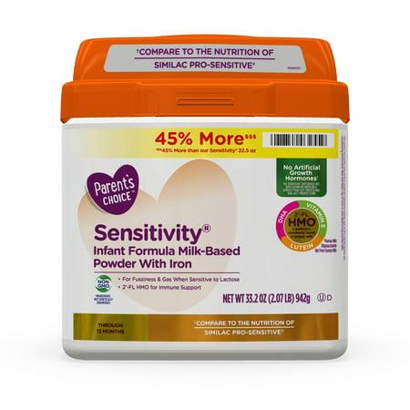 Parent's Choice HMO & Non-GMO Sensitivity Infant Formula with Iron, 33.2 oz