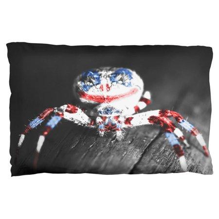 Patriotic Killer Clown Spider Of Halloween Pillow Case (Killer Clowns Halloween)