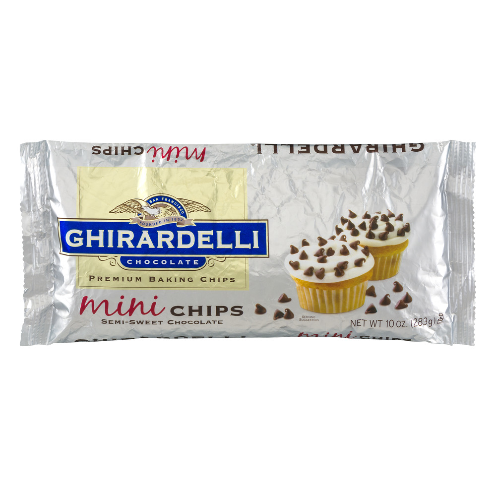 Ghirardelli Chocolate Premium Baking Chips Mini Chips Semi-Sweet Chocolate, 10.0 OZ