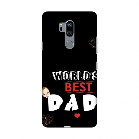 LG G7 Case, LG G7 ThinQ Case, Slim Fit Handcrafted Designer Printed Snap on Hard Shell Case Back Cover - Father's Day - World''S Best