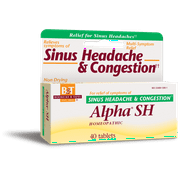 Boericke and Tafel Alpha SH Sinus Headache - 40 Tablets Homeopathic Pain Relief