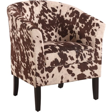 Linon Simon Chair, Udder Madness, 19.5 inches Seat Height
