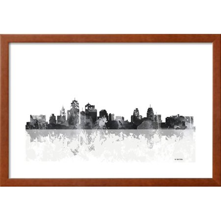 Kansas City Missouri Skyline Framed Giclee Print Wall Art By Marlene ...