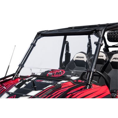 Tusk Vented Hard Coated Poly Carb Front Windshield for Polaris RANGER RZR XP 1000 TRAILS AND ROCKS Edit. 2018 ()