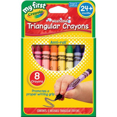 My First Crayola Washable Triangular Crayons 8/Pkg-